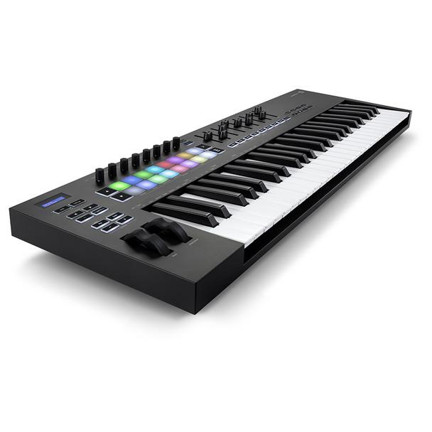 NOVATION Launchkey 49 [MK3] MIDI Keyboard Controller front left angle