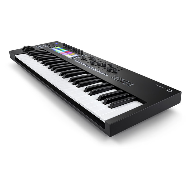 NOVATION Launchkey 49 [MK3] MIDI Keyboard Controller front right angle