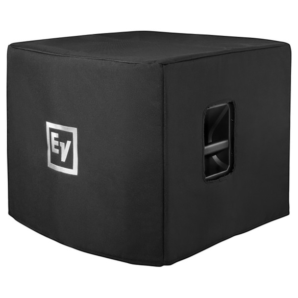 """Electro-Voice EKX-15SP Powered 15"""" Subwoofer front and side view with case"""