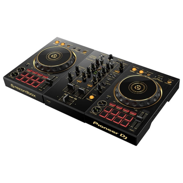 PIONEER DDJ-400-N/PXJ GOLD 2-Channel Limited Edition Rekordbox DJ Controller Angle