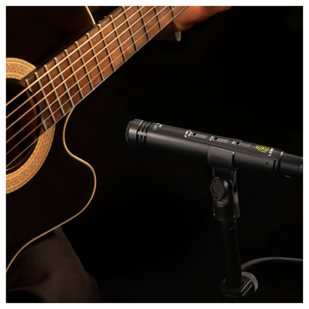LEWITT LCT 140 AIR Small-Diaphragm Condenser Microphone for Instrument Recordings - Mic on Guitar