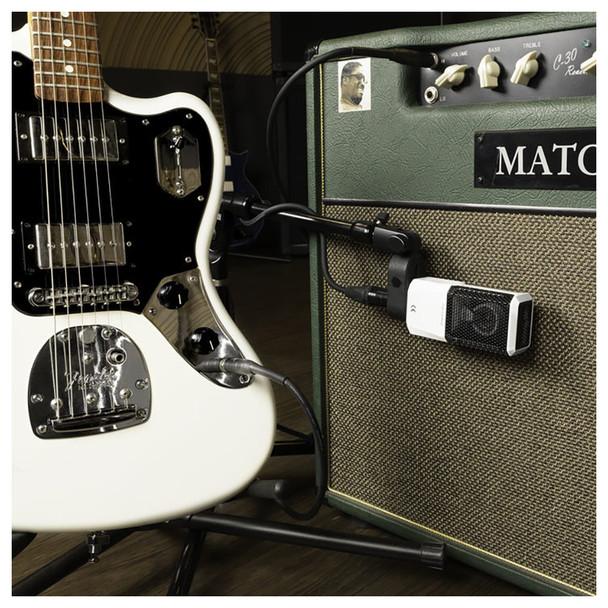 LEWITT LCT 240 PRO Condenser Microphone - Black - Mic on Guitar Cab