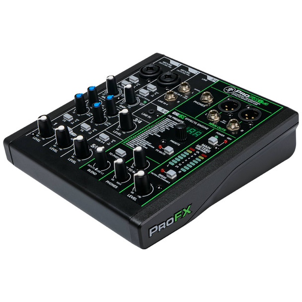 MACKIE ProFX6v3 6 Channel Professional Effects Mixer with USB angle view