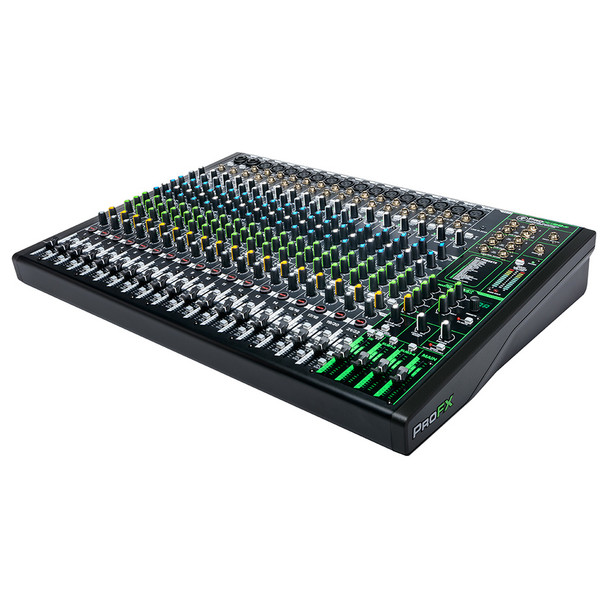 MACKIE ProFX22v3 22 Channel 4-bus Professional Effects Mixer with USB right angle