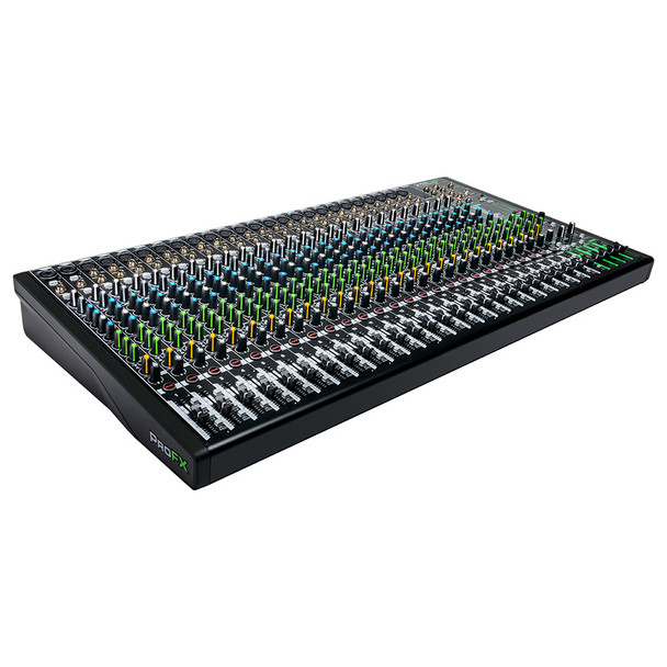 MACKIE ProFX30v3 30 Channel 4-bus Professional Effects Mixer with USB left angle
