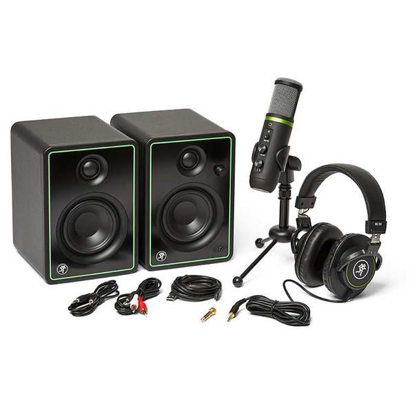 MACKIE Creator Bundle - Content Creation Bundle with CR3-X Monitors, EM-USB Condenser Mic, and MC-100 Headphones