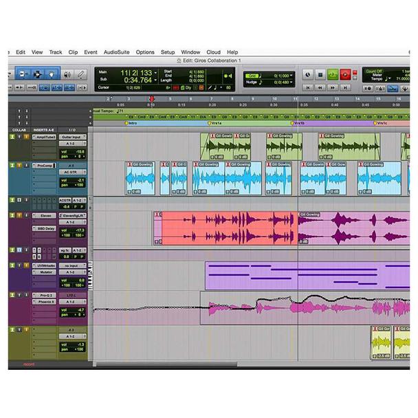 Protools software screenshot