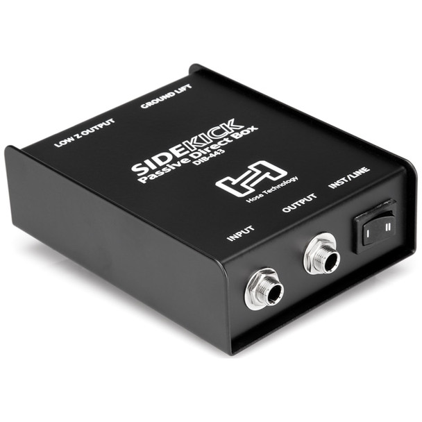 hosa-dib-443-direct-box-passive-for-guitar-to-mixer-front-input-view