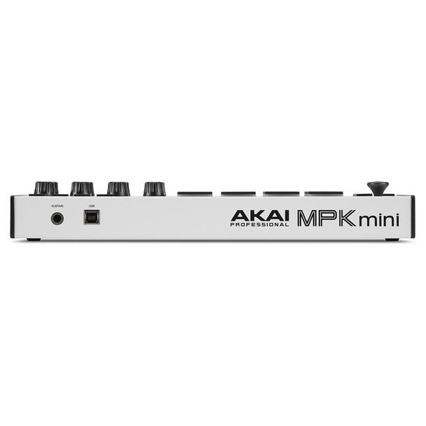 AKAI MPK Mini Mk3 WHITE SE back view