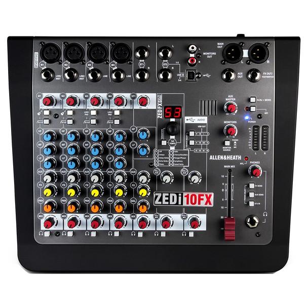 ZEDi-10FX-mixer-top-view. EMI Audio