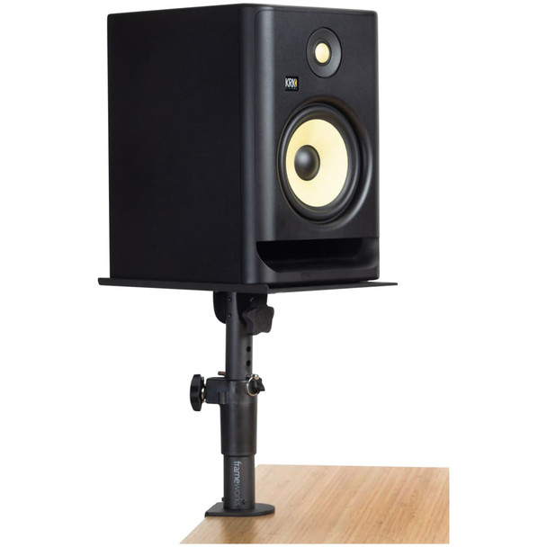 gator-frameworks-clamp-on-studio-monitor-stand-with-monitor-on-desk