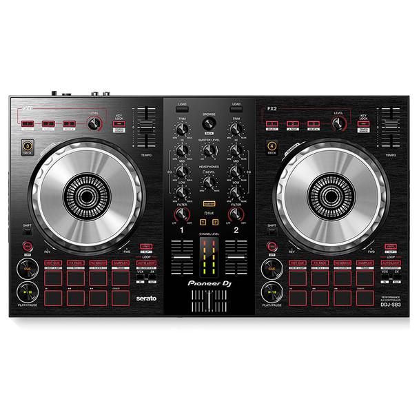 PIONEER DJ DDJ-SB3 DJ Controller top view. EMI Audio