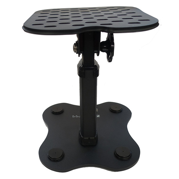 YORKVILLE SKS-T11 11 inch tall Studio Monitor Table Top stand back view. EMI Audio