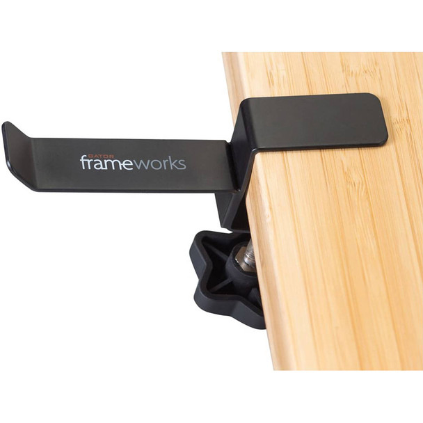 Gator Frameworks GFW-HP-HANGERDESK Headphone Hanger For Desks. EMI Audio