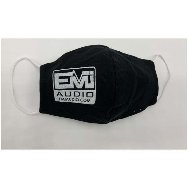 EMI Audio Mask Soft fabric, comfortable elastic ear loops and filter pocket.