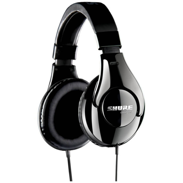 Shure SRH240a headphones angle view. EMI Audio
