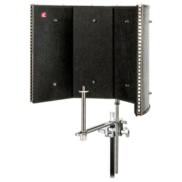 se-eclectronics-rf-pro-refexion-filter-mic-shield-vocals-rap-singing-podcast-vocal-booth-inside
