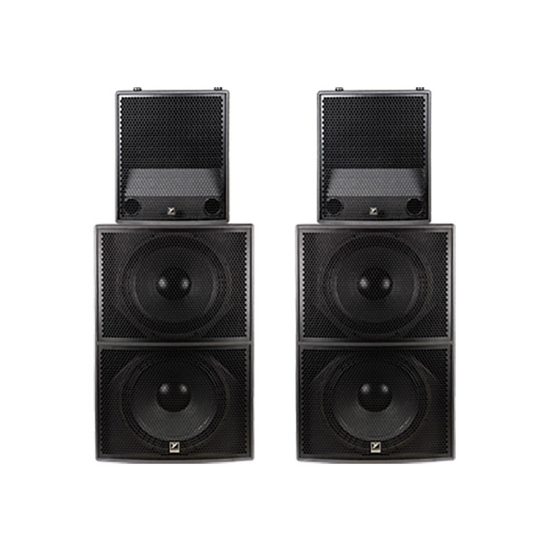 Yorkville Synergy Array with 2 SA221S Powered Subwoofers and 2 SA153 Powered Full Range Speakers