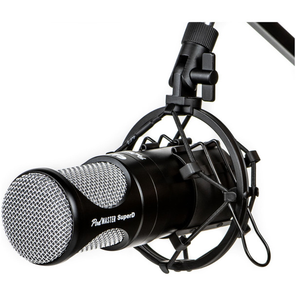 CAD-Audio-Podmaster-SuperD-PM1200-XLR-Studio-Microphone-with-Broadcast-Boom-Arm-Front-Angle-EMI-Audio