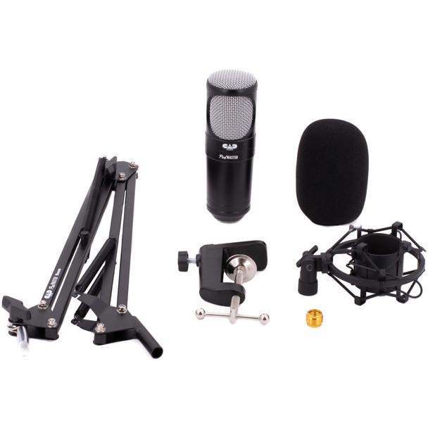 CAD-Audio-Podmaster-SuperD-PM1200-XLR-Studio-Microphone-with-Broadcast-Boom-Set-EMI-Audio