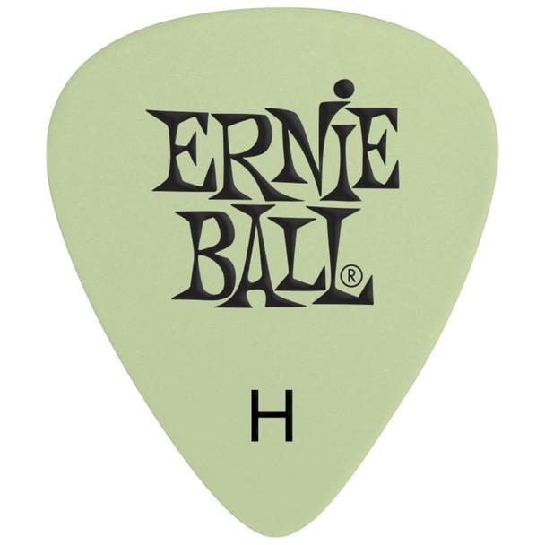 ernie-ball-super-glow-cellulose-heavy-picks-pick-top-view