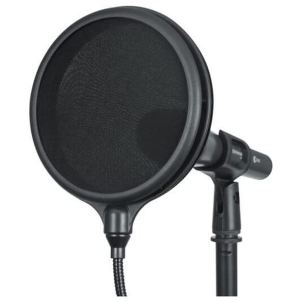 """GATOR 6″ Double Layered, Split Level """"Pop"""" Filter close up with mic"""