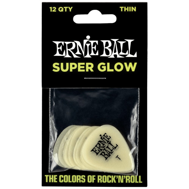 ernie-ball-super-glow-cellulose-thin-picks-12-pack-front