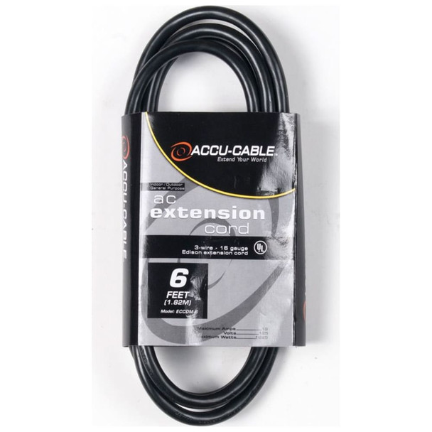 6 Foot IEC Female to Male Jumper Cable
