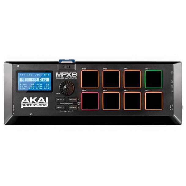 AKAI MPX8 Mobile SD Sample Player top view. EMI Audio