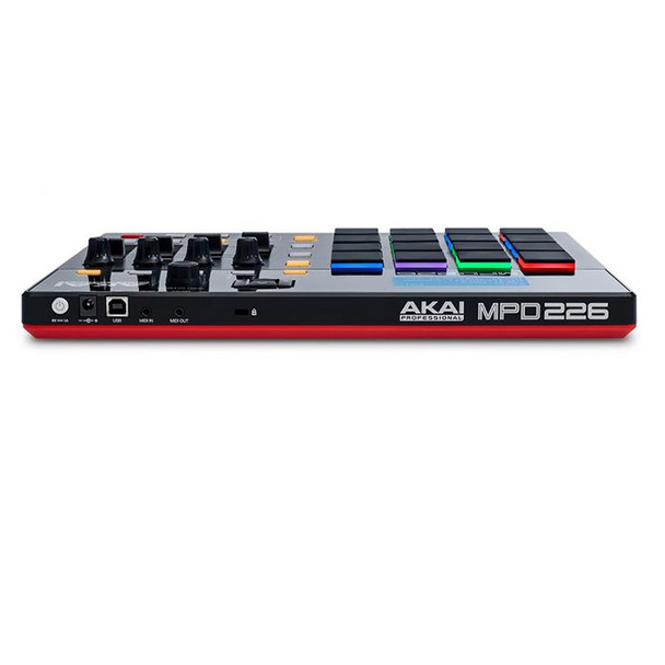 AKAI MPD226 Highly Playable Pad Controller front view. EMI Audio