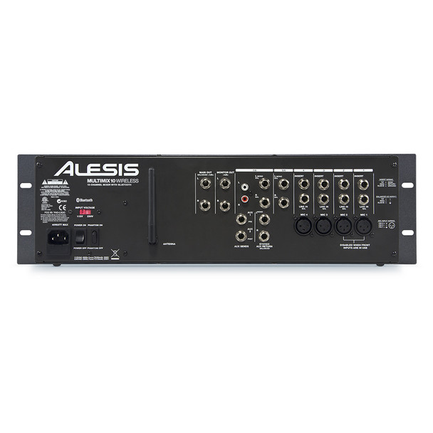 MultiMix 10 Wireless 10-Channel 3RU mixer with Bluetooth rear view