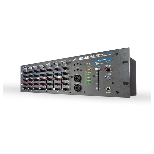 MultiMix 10 Wireless 10-Channel 3RU mixer with Bluetooth angled view