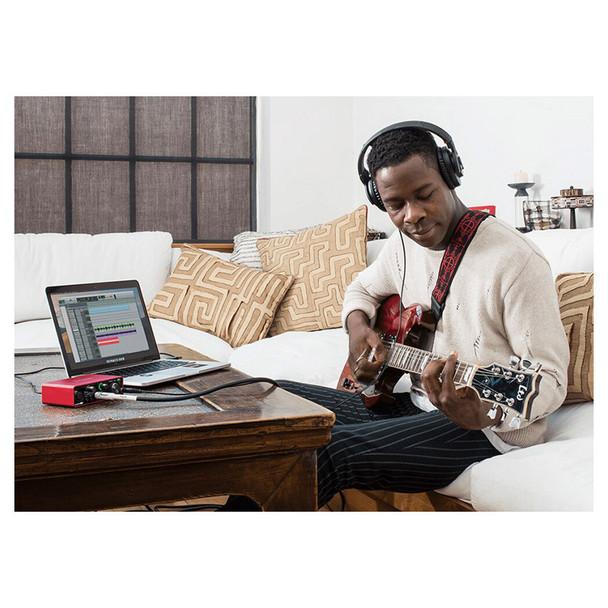 FOCUSRITE Scarlett Solo 3rd Gen mic USB interface in use. EMI Audio