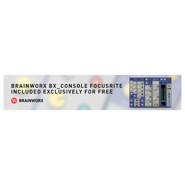 Brainworx BX_Console Focusrite Included Exclusively for Free