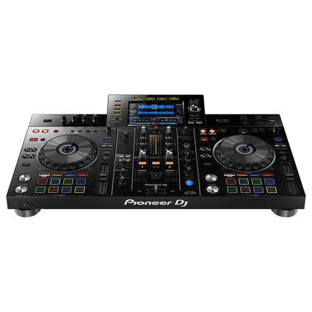 """XDJ-RX2 Front product shot with headphone jack both 1/4"""" and 1/8"""""""
