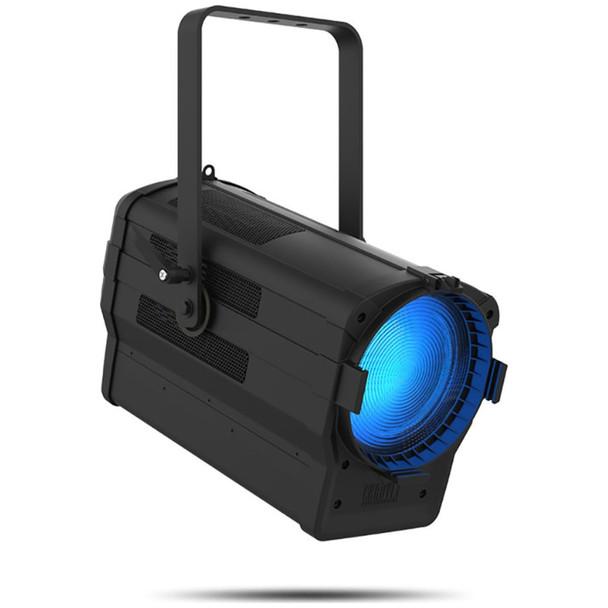 chauvet-ovation-f915fc-par-light-fixture-front-right-angle-blue-light