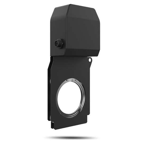 CHAUVET PRO OVATIONGR1IP IP65 Rated Gobo Rotator for One Single or Two Counter-Rotating Gobos front/left view black fixture