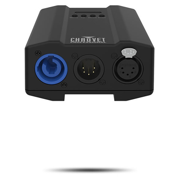 CHAUVET PRO OVATIONGR1ADAPTOR Power and Data Interface Adapts Ovation GR-1IP to any ERS-Style Fixture bottom view with inputs and outputs