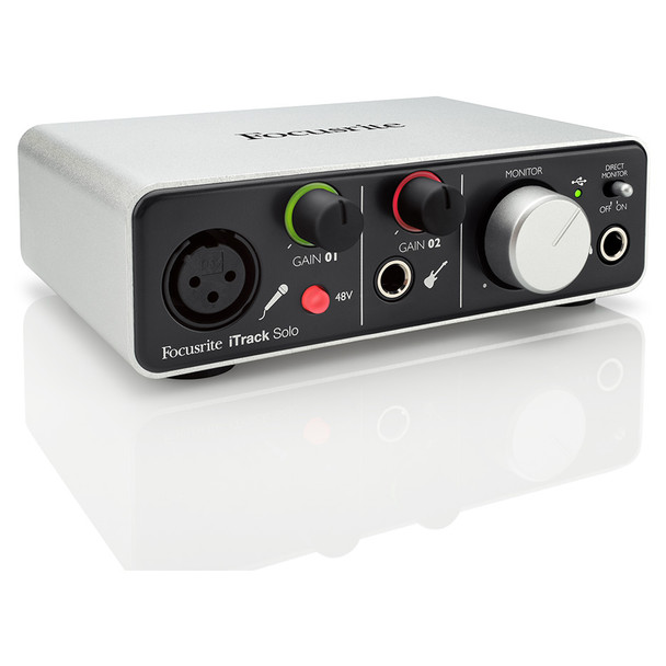 FOCUSRITE iTrack Solo2-ch USB Audio Recording Interface with Lightning Connector for Ipad Mac or PC