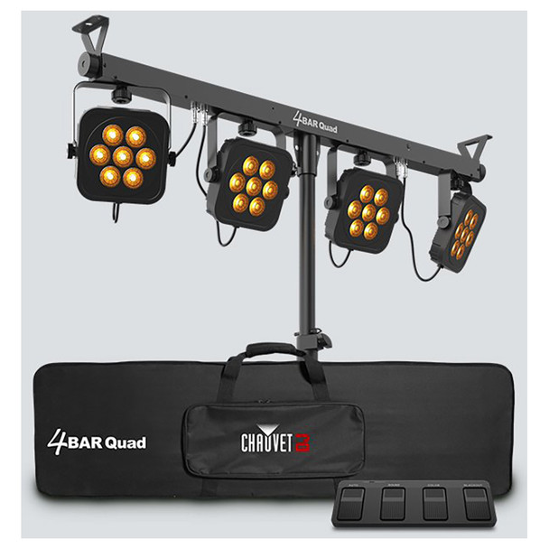 4BAR Quad Bar light with tripod, carrying case and foot controller included