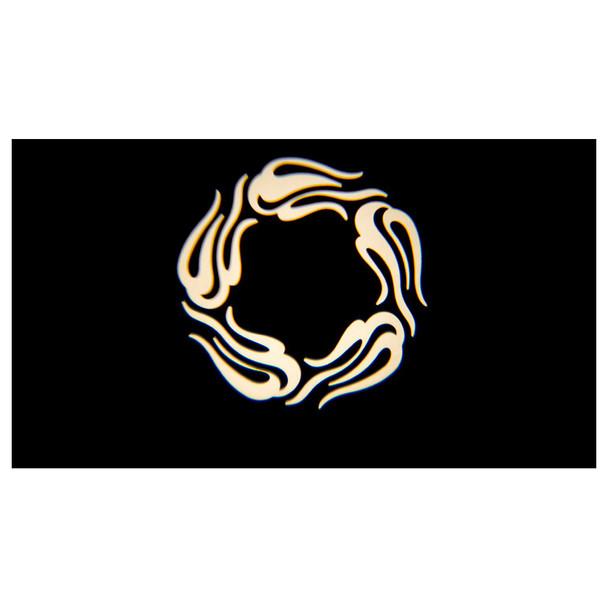 circular shape illuminated onto black wall by CHAUVET EVE E-100Z powerful spot fixture