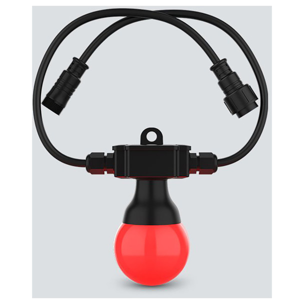 CHAUVET Festoon 2 RGB EXT 1 individual cord with red bulb on bottom