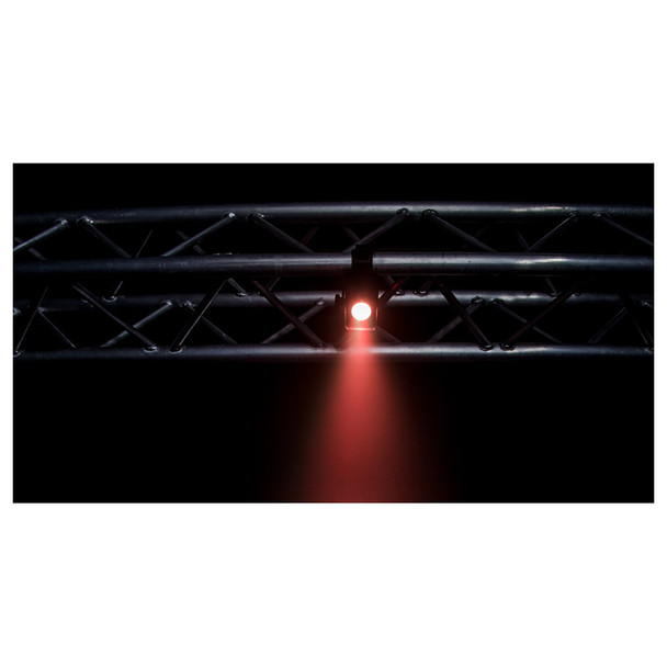 horizontal truss with Freedom H1 light shining downwards in red