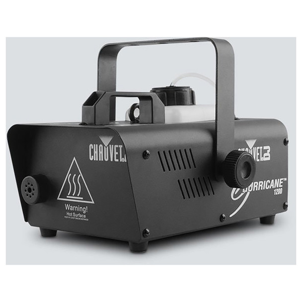 CHAUVET Hurricane 1200 Compact and lightweight fog machine front/right view black