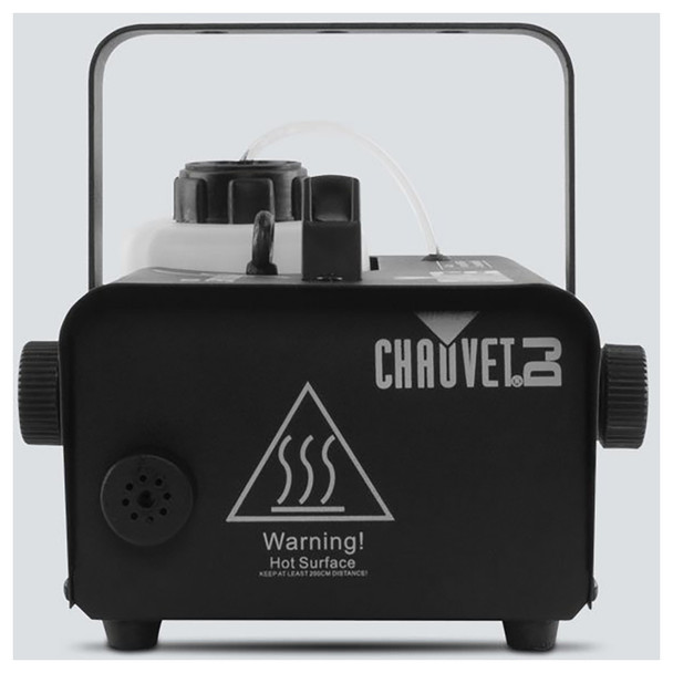 CHAUVET Hurricane 1200 Compact and lightweight fog machine direct front view with warning hot surface