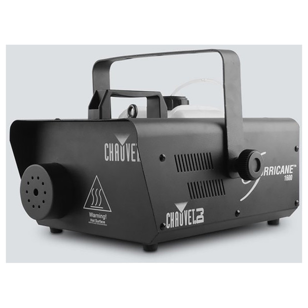 CHAUVET Hurricane 1600 Compact, lightweight, high output fog machine with DMX control front/right view of entire machine black