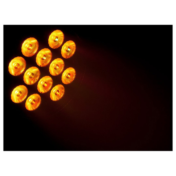 1 individual SlimPAR T12BT with amber lights illuminated