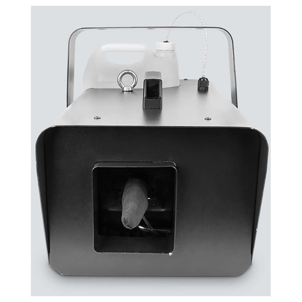 CHAUVET Snow Machine direct front view showing handle, fluid container, and snow output area