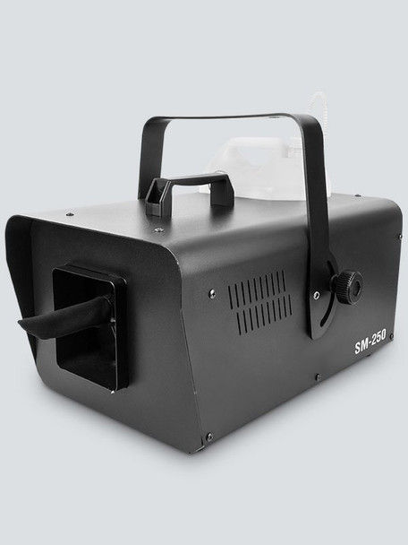 CHAUVET Snow Machine front/right view showing handle, fluid container, and snow output area