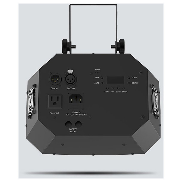 CHAUVET Wash FX 2 multi-purpose effect light with 18 Quad-color (RGB+UV) LEDs direct back view